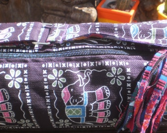 Yoga Mat Bag , Elephant Print, Hand made Yoga Bag,