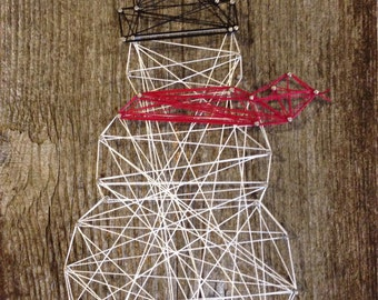 Snowman String Art