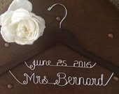 Wedding deluxe hanger with date and name