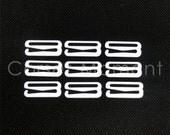 48 * White 20mm Metal Hook Suspender Clip Corset Garter Belt Clasp Lingerie Supplies