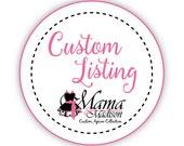 Custom Listing For Radaja1...Matching Daddy & Me Custom Embroidered Aprons