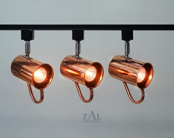 Track Lighting Fixture, Copper mug, Moscow Mule. 3 Track lights and Track.
