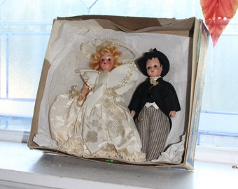 Vintage Bride and Groom Dolls Duchess Dolls Corp