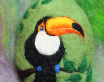Felted Soap, Birds, Toucan, Handmade, Jungle Toucan, Wildlife