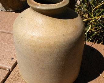 Vintage Clay Jug Pottery Jug Nice Patina Warm Gray Brown Tones Home Decor