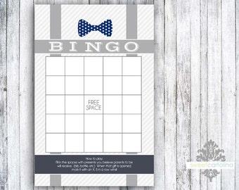 Little Man Suspenders - Baby Shower Bingo Game - Set of 20