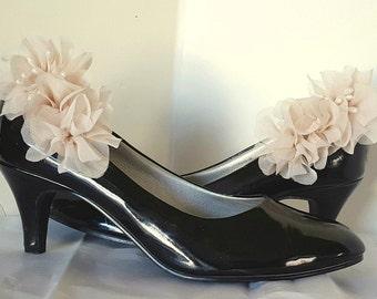 Shoe Clips, Chiffon Floral Design, MANY COLORS, Wedding Shoe Clips, Bridal Shoe Clips for wedding soes, bridal shoes, accessories, women
