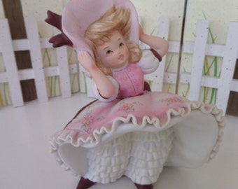 Lefton Bloomer Girl -- Bloomer Figurine