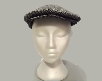Vintage Tweed Gatsby Flatcap Scully Scally Paddy News Newsie Driver Golf Cap Hat Size 7 1/8 Eur 58 1950s 1960s