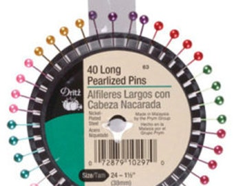 Dritz Long Pearlized Pins Sewing Pins Craft Pins