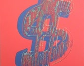 Andy WARHOL lithograph DOLLAR limited edition authenticated