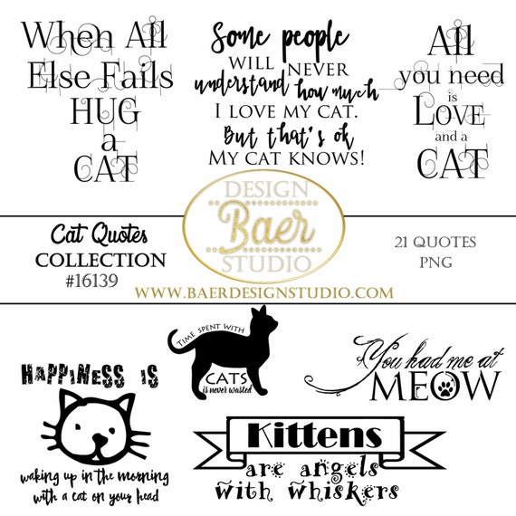 Printable Love Quotes And Sayings: Cat Quotes, Word Art Clipart, Cat Word Art, Cat Planner
