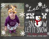 Let it Snow, Let it Snow, Let it Snow Holiday card