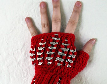 Tab Gauntlets (red)