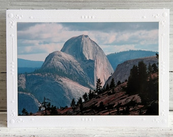 Yosemite Half Dome Photo Greeting Card, Fine Art Photography, All Occasion Notecard, National Park in California, View from Olmstead Point
