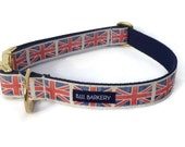 The Royals Webbing Dog Collar with Brass Hardware