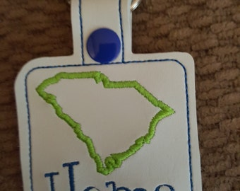 South Carolina Keychain, Keytab, FOB
