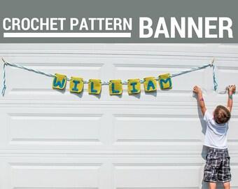 Banner Crochet Pattern - PDF Digital Download