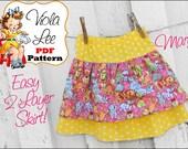 Mary ...Girl's Skirt Pattern pdf, Ruffle Skirt Pattern, Ruffled Twirl Skirt Pattern. Toddler Sewing Pattern pdf. Girl's Sewing Pattern