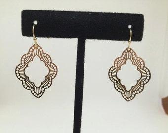 India inspired filigree earrings