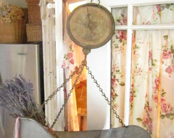 Scale Vintage hanging farm   scale shabby chic prairie cottage chic