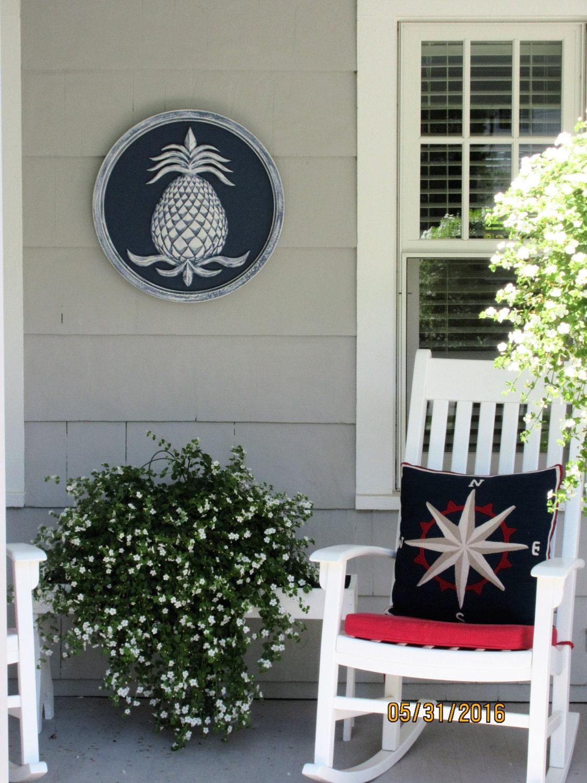 Garden decor pineapple wall plaque pineapple decor for Pineapple outdoor decor