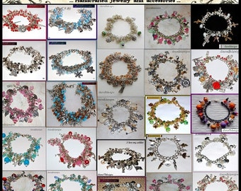 Custom charm bracelet-any color or theme crafts sports holiday animal job fairytale movie novel myth fantasy handmade bracelet,Diana Brandt