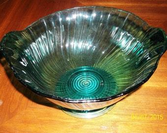 Green/Blue Depression Glass Bowl
