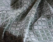 Tea Towel Handwoven - Sage Classic Swedish Blocks Cotton