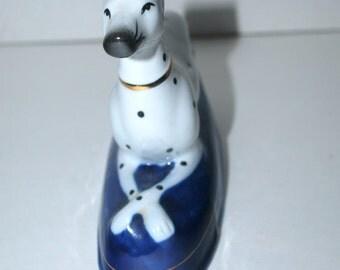 Labor Day sale Dalmatian figurine Staffordshire fine porcelain dog home decor