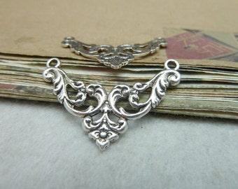 30pcs 26*38mm antique silver charms pendant C8072