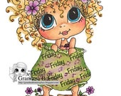 INSTANT DOWMLOAD Digital Digi Stamps Big Eye Big Head Dolls Digi Of The Week Besties FRIDAY  By Sherri Baldy