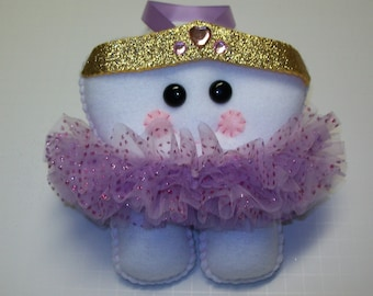 "7"" Ballerina Tooth Fairy Pillow - Purple & Pink Tutu"