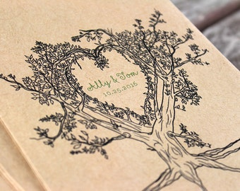 Personalized Oak Tree Wedding Favor Bags- Tree Theme Paper Bag. Flat Candy Bags. Kraft Paper. Bridal Shower Favor. Candy Buffet. Candy Bar.