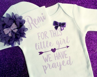Baby Girl BODYSUIT - Baby Girl Coming Home Outfit - Baby Girl Gift - Baby Girl Clothes  - Preemie Girl - Girl Take Home Outfit - New Mom