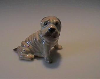 Vintage miniature Hagen Renaker Sharpei dog