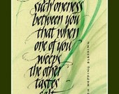wedding gift calligraphy print 9 x 12