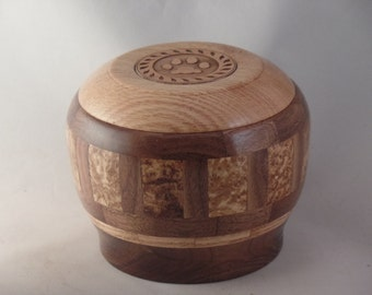 Black Ash Burl Pet Urn #892-30