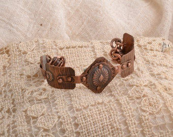 Five Easy Piece Copper Bracelet.  Free Shiping In US and Canada