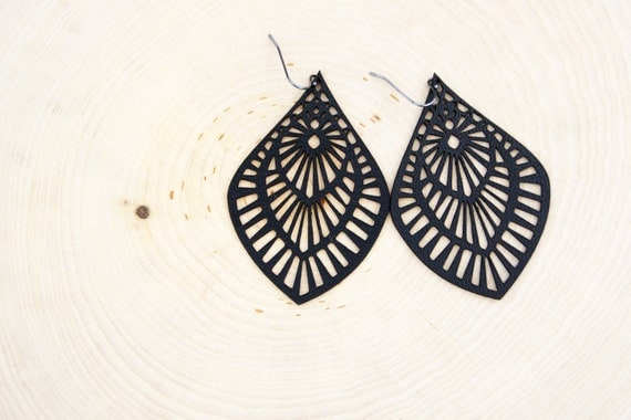 Mama Leather Earrings