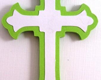 6 Easter Cross Embellishment,Cross  Die Cut,  EasterScrapbook  Embellishment