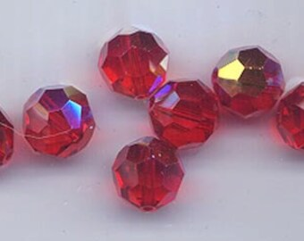 24 gorgeous Swarovski crystals - art 5000 - 6 mm - light siam AB