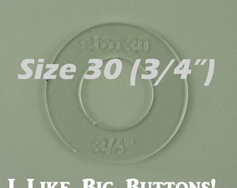 Size 30 (3/4 inch) Fabric Cover Button Template Plastic - By Dritz (Prym)