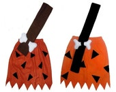 Bamm Bamm Flintstones Rust/Brown or Orange/Black Custom Made Halloween Costume 6/9M 9/12M 12/18M 24M/2T 3T/4T 5/6 7/8