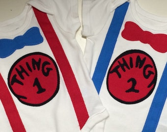 Twin shirts Twin Bodysuit One Thing Two Thing Dr Seuss Cat In The Hat Dr Seuss Birthday Dr Seuss baby shower Decor nursery decor