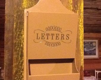 Letter Rack Key Tan 1960 Retro Plastic
