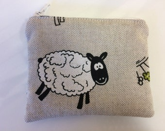 Sheep coin purse zip pouch