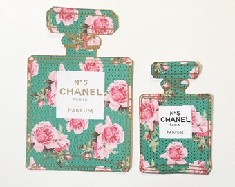 Floral Chanel Bottle | Stationary | Wall Art | Wall Decor | Chanel Art