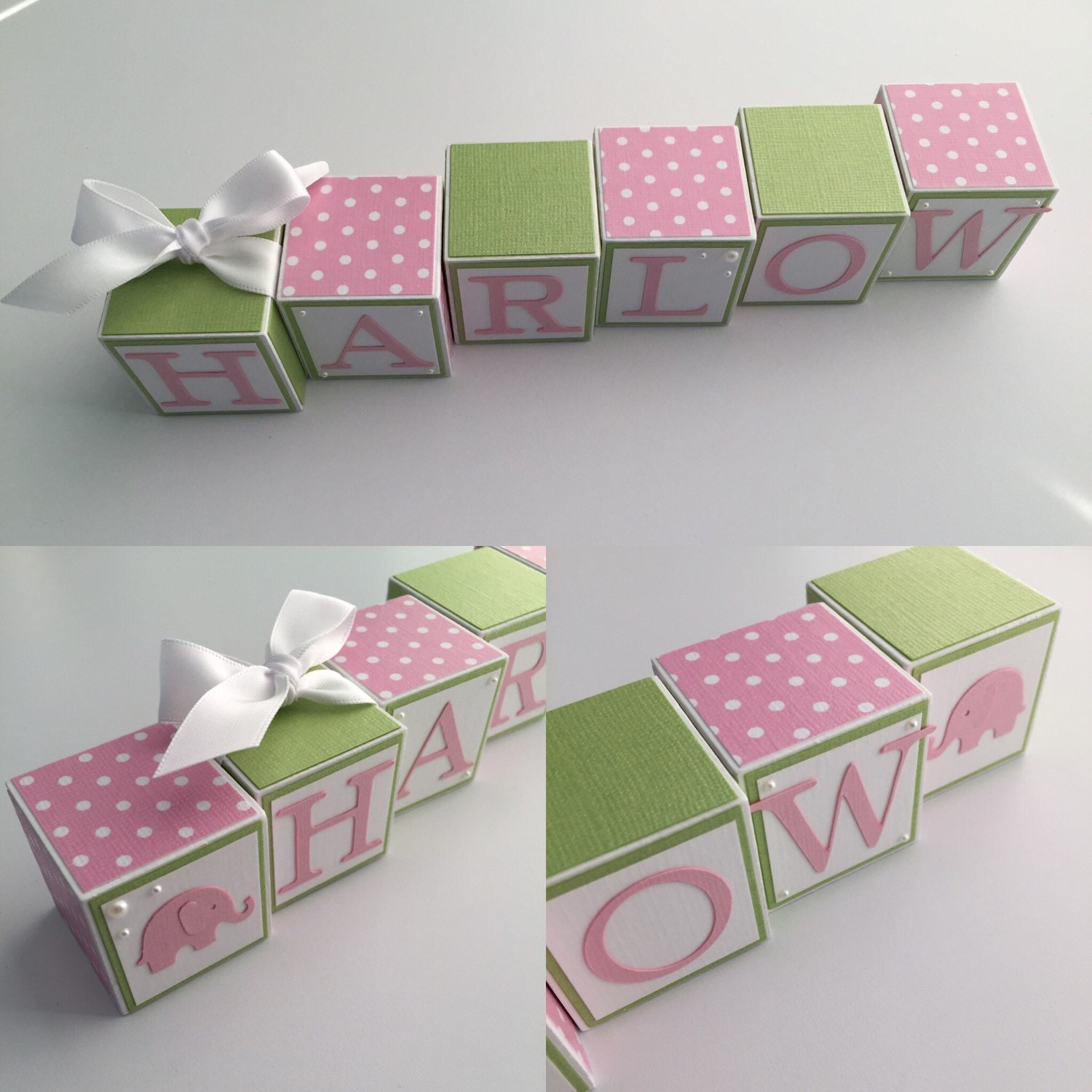 Baby Name Blocks Name Blocks Baby Baby Girl by bitsyblocks