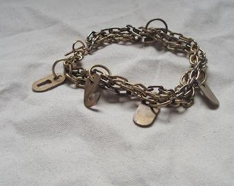 Multistrand Industrial Charm Bracelet